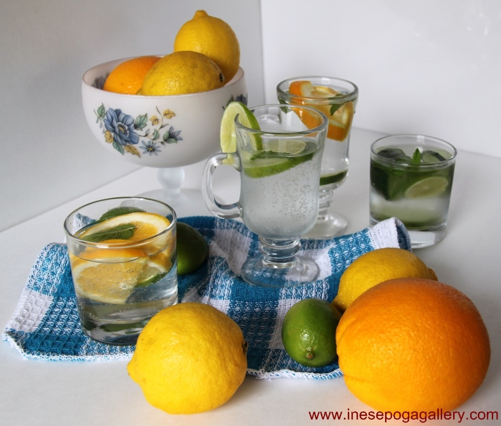 Add fruit and ice to regular bottled water