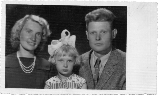 I with my mom and dad in 1961