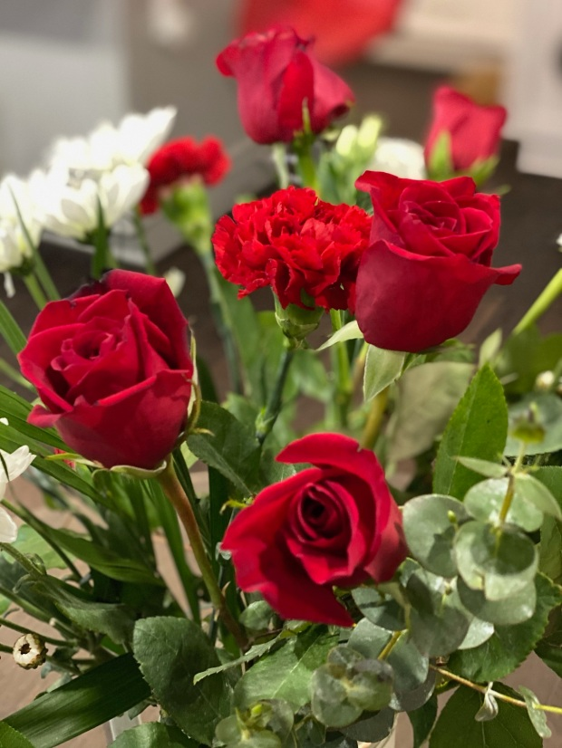 Roses and flowers for joy